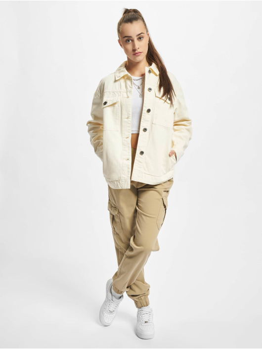 Urban Classics Giacca Jeans Ladies Oversized beige