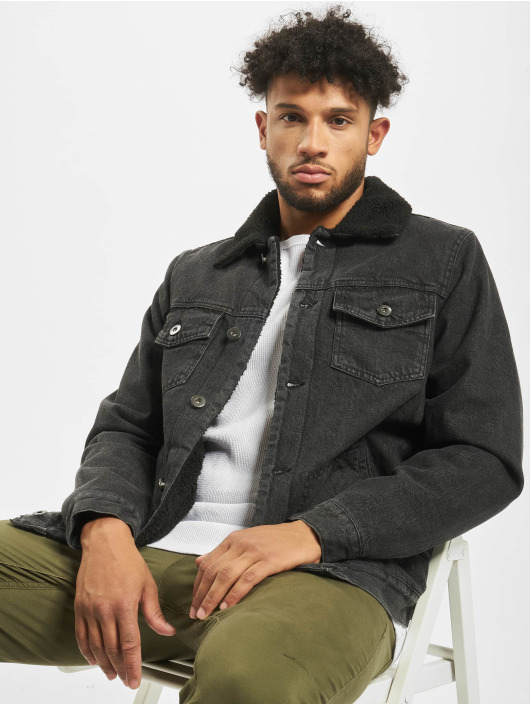 Urban Classics Giacca Jeans Sherpa Lined Jeans nero