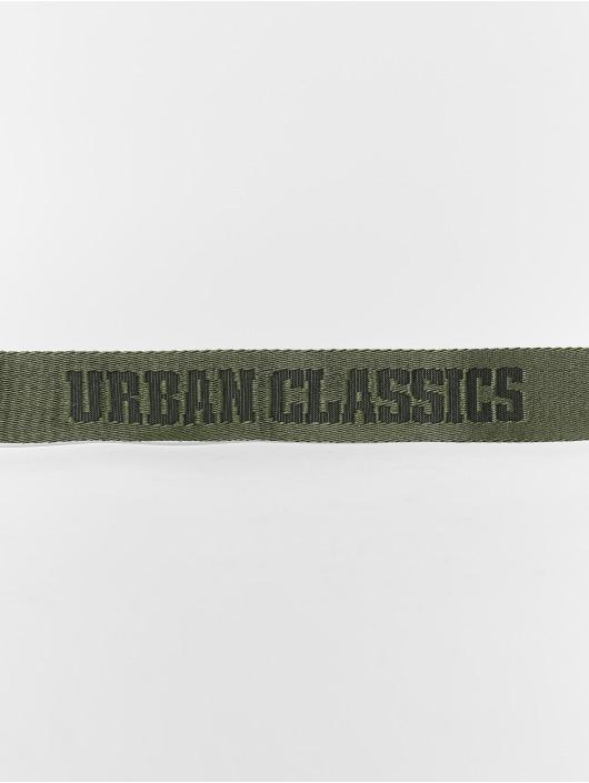 Urban Classics Gürtel Jaquard grün