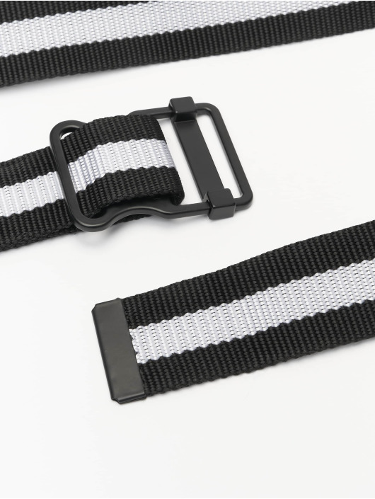 Urban Classics Gürtel Easy With Stripes zwart