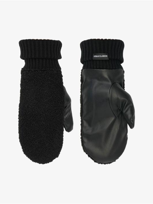 Urban Classics Handschuhe Sherpa Imitation Leather schwarz