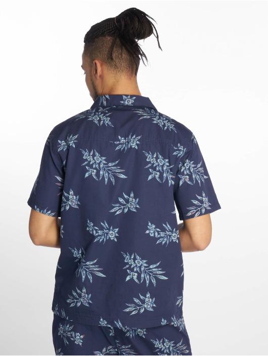 Urban Classics Hemd Pattern Resort blau