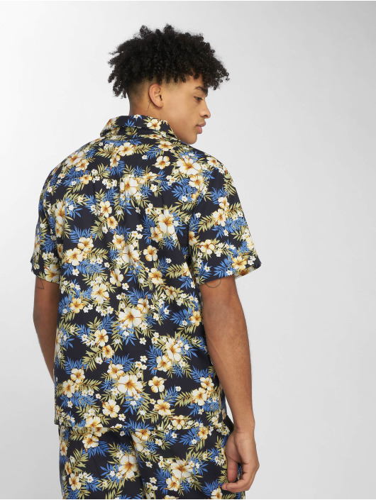 Urban Classics Hemd Pattern Resort blau