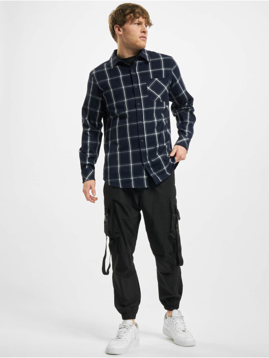 Urban Classics Hemd Basic Check blau