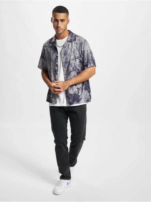 Urban Classics Hemd Tye Dye blau