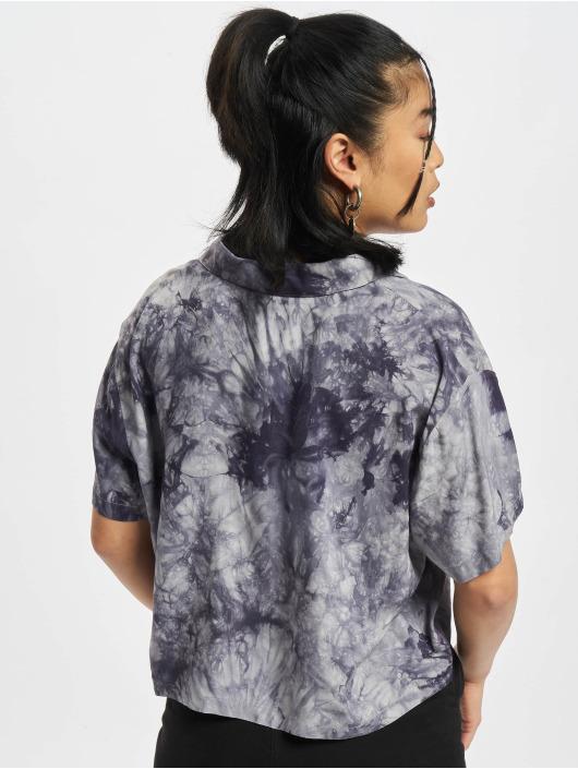 Urban Classics Hemd Viscose Tie Dye Resort grau
