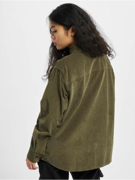 Urban Classics Hemd Ladies Corduroy Oversized olive