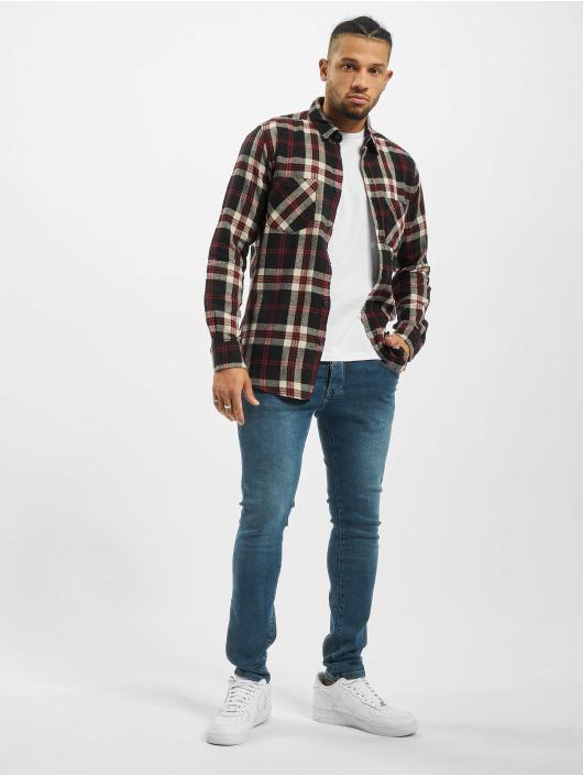 Urban Classics Hemd Checked Flanell 3 schwarz