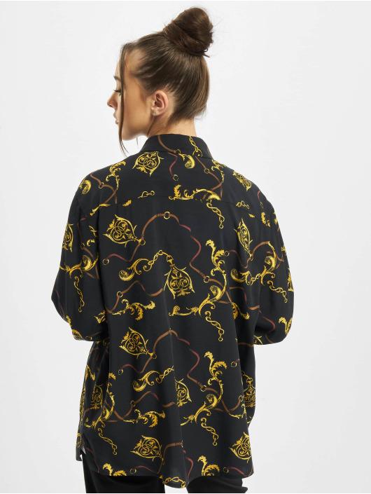 Urban Classics Hemd Ladies Viscose Oversize schwarz