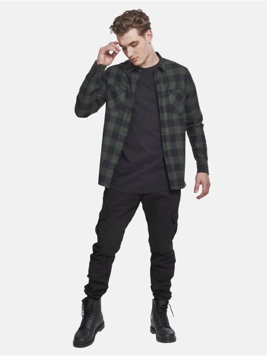 Urban Classics Hemd Checked Flanell schwarz