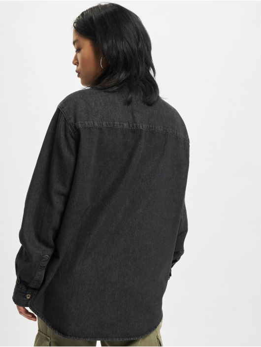 Urban Classics Hemd Oversized Blouse schwarz