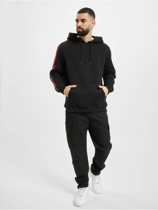 Urban Classics Hettegensre Stripe Hoody svart