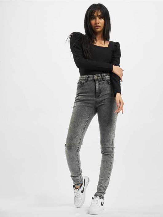 Urban Classics High Waisted Jeans Ladies High Waist Skinny èierna