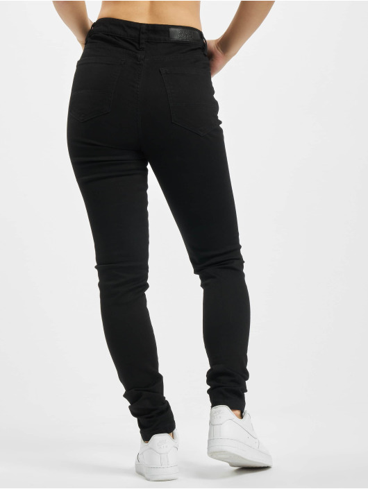 Urban Classics High Waisted Jeans Ladies High Waist čern