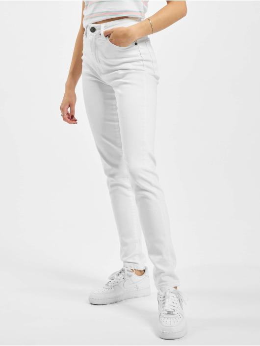 Urban Classics High Waisted Jeans Ladies Skinny biela