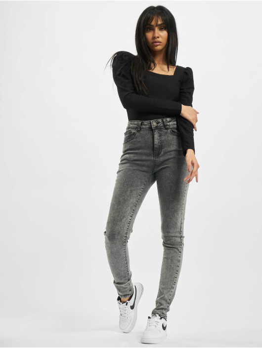 Urban Classics High Waisted Jeans Ladies High Waist Skinny black