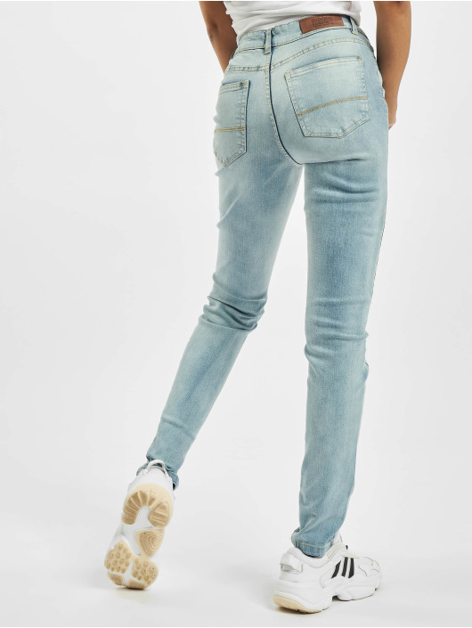 Urban Classics High Waisted Jeans Ladies High Waist blu
