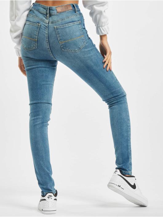 Urban Classics High Waisted Jeans Ladies High Waist blue