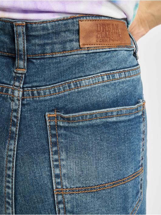 Urban Classics High Waisted Jeans Ladies Skinny High Waist modrá