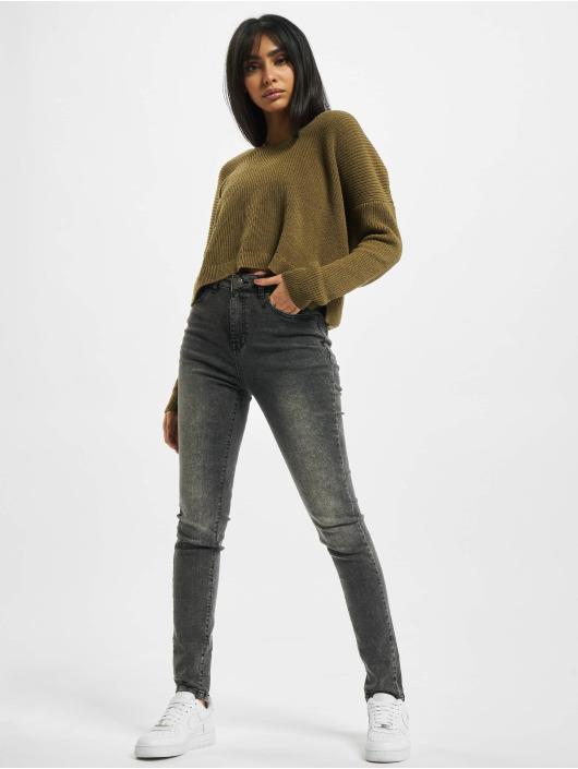 Urban Classics High Waisted Jeans Ladies High Waist zwart