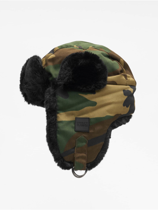 Urban Classics hoed Printed Trapper camouflage