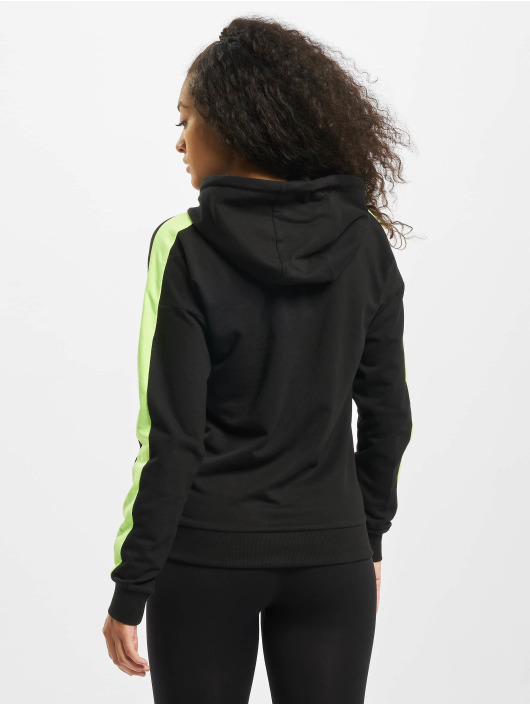 Urban Classics Hoodie Ladies Neon Shoulder Stripe black