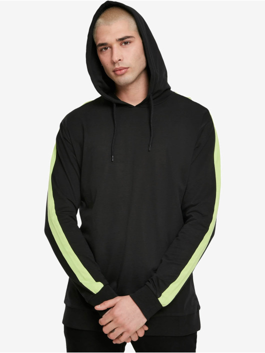 Urban Classics Hoodie Neon Striped black