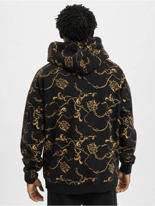 Urban Classics Hoodie AOP Luxury Print Oversized black