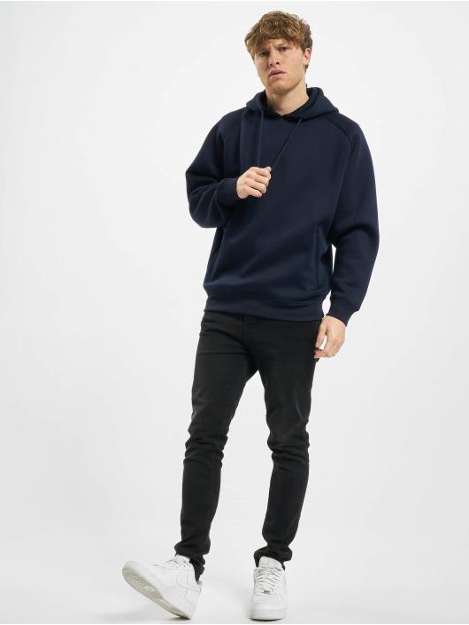 Urban Classics Hoodie Raglan Zip Pocket blue