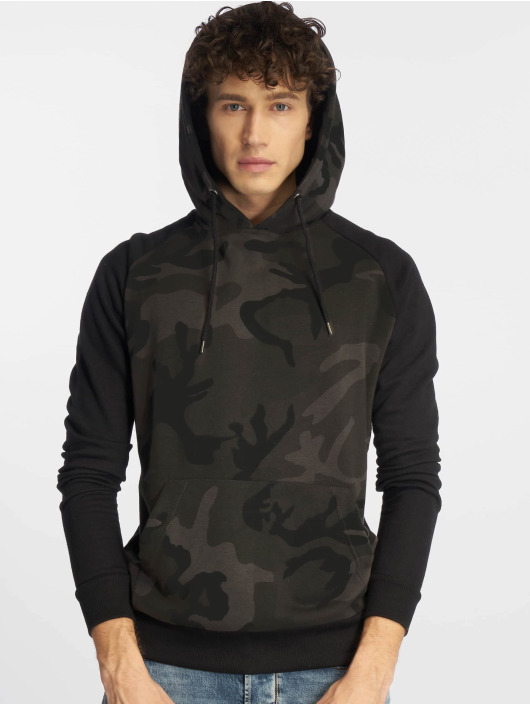 Urban Classics Hoodie Camo Contrast Raglan camouflage
