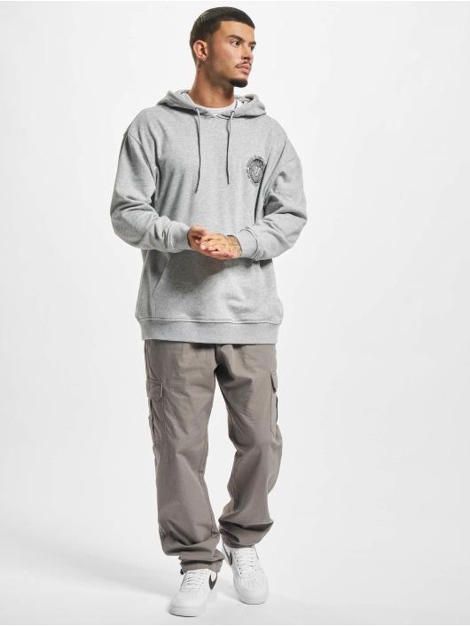 Urban Classics Hoodie Globetrotter grå