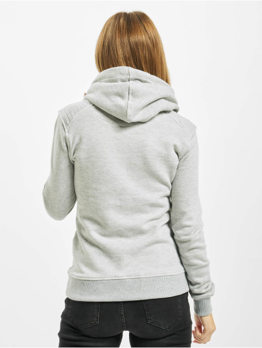 Urban Classics Hoodie Melange Shoulder Quilt grey