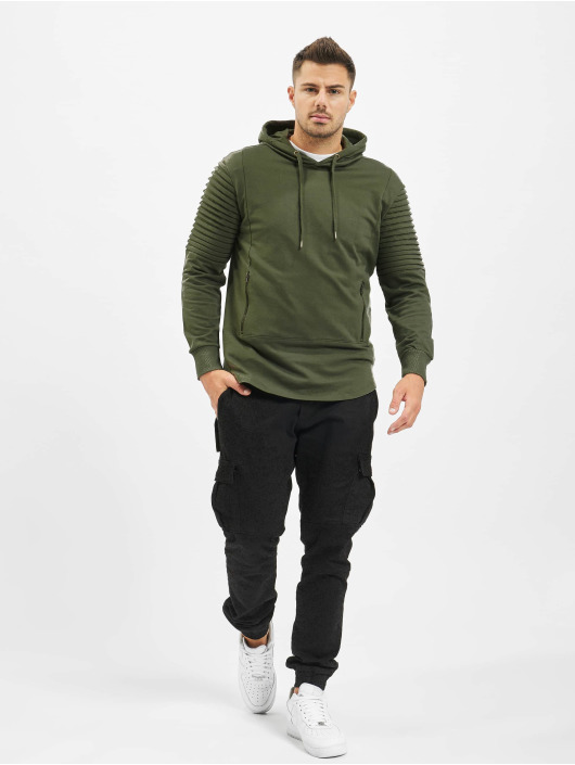Urban Classics Hoodie Pleat Sleeves Terry HiLo olive