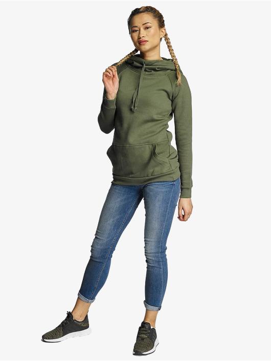 Urban Classics Hoodie Ladies High Neck olive