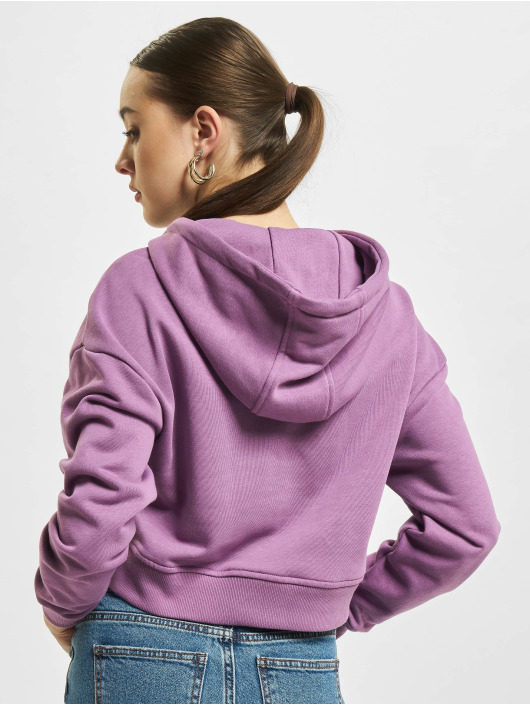Urban Classics Hoodie Short Terry purple