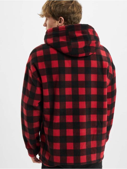 Urban Classics Hoodie Patterned Polar Fleece red