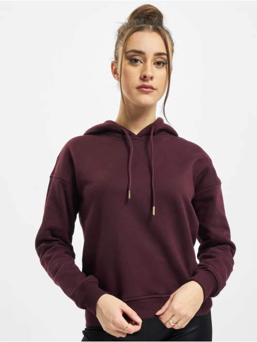 Urban Classics Hoodie Ladies red