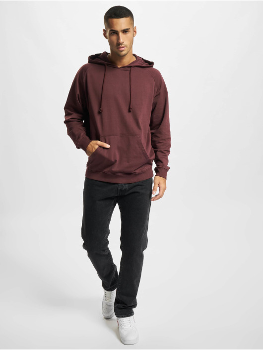 Urban Classics Hoodie Overdyed red