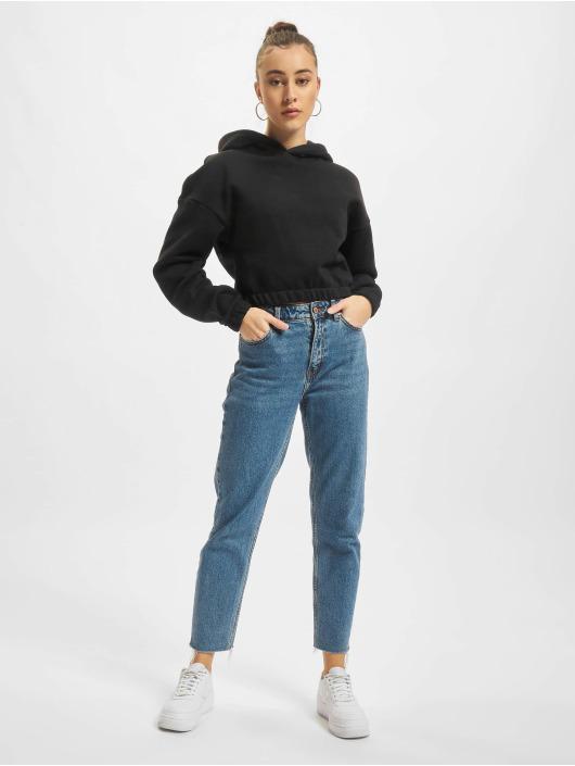 Urban Classics Hoodie Ladies Short Oversized svart