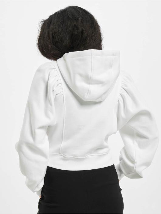 Urban Classics Hoodie Ladies Organic Gathering Batwing white