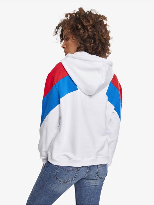 Urban Classics Hoodie Ladies Oversize 3-Tone white