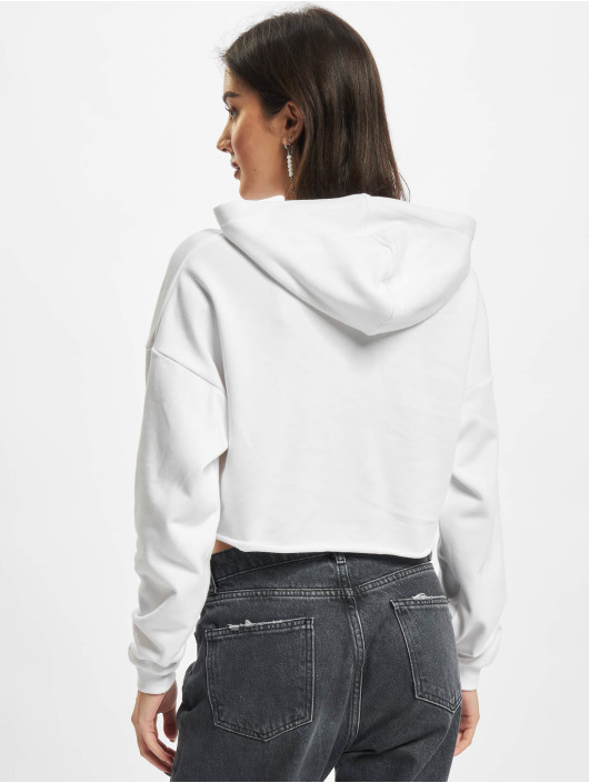 Urban Classics Hoodie Ladies Oversized Cropped white
