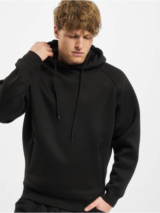 Urban Classics Hoodies Raglan Zip Pocket čern