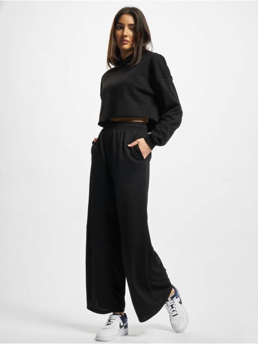 Urban Classics Hoodies Ladies Oversized Cropped čern