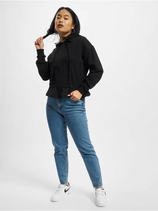 Urban Classics Hoodies Ladies Organic Volants čern