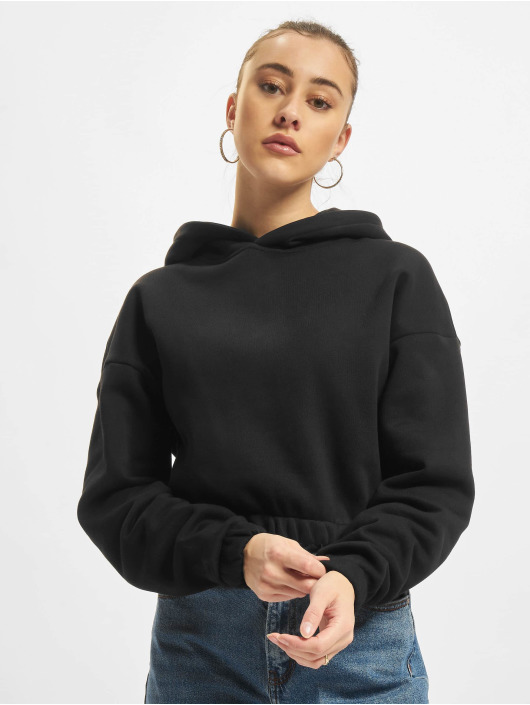 Urban Classics Hoodies Ladies Short Oversized čern