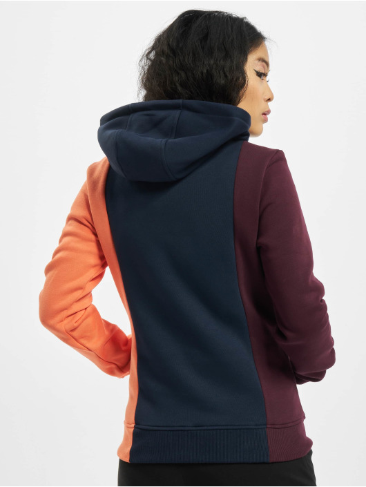 Urban Classics Hoodies Ladies Tripple červený