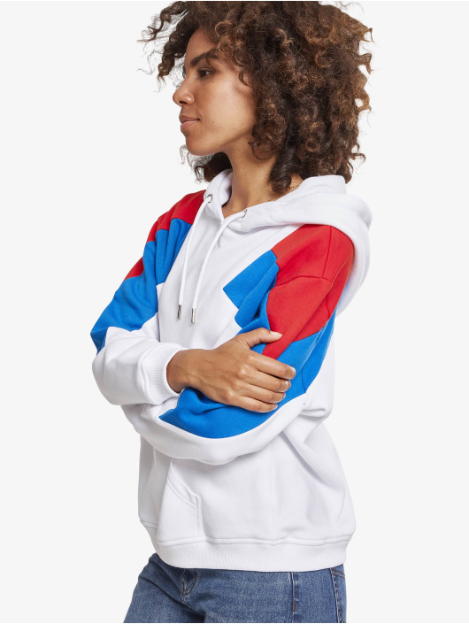 Urban Classics Hoodies Ladies Oversize 3-Tone bílý