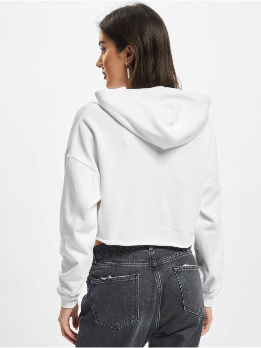 Urban Classics Hoodies Ladies Oversized Cropped bílý