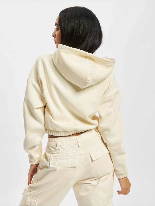 Urban Classics Hoodies Ladies Short Oversized Sweat béžový